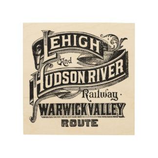 Lehigh & Hudson River Railway Wood Wall Decor