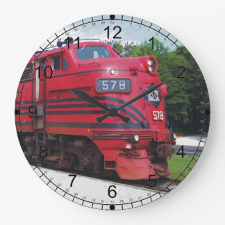 Lehigh Valley Railroad F-7A #578 @ Cape May N.J. Large Clock