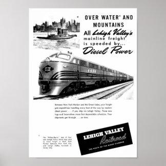 Lehigh Valley Railroad - New Diesel Power 1950 Poster