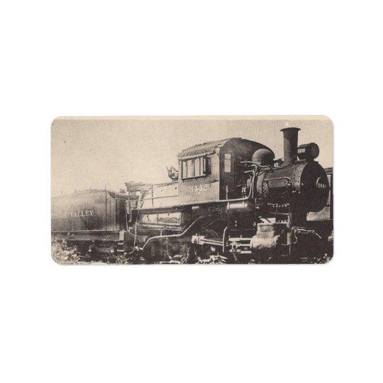 Lehigh Valley Sayre Railroad Train Address Label