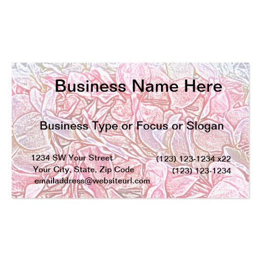 lei sketch pink flowers abstract neat background business card
