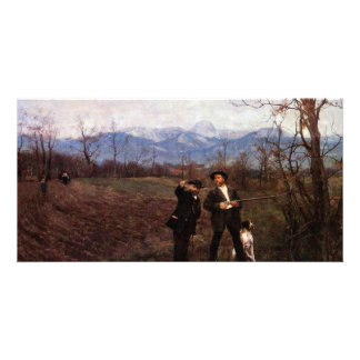 Leibl And Sperl On The Chicken Hunt By Leibl Photo Card Template