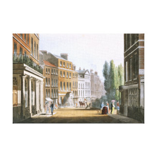 Leicester Square 1812 from Ackermann's Repository Canvas Print