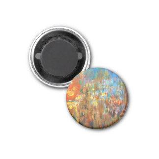 Leicester Square at Night Claude Monet fine art 3 Cm Round Magnet