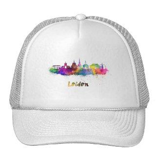 Leiden skyline in watercolor cap