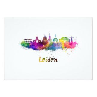 Leiden skyline in watercolor card