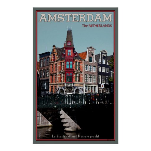 Leidestraat-Keizersgracht Poster