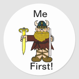 "Leif Erikson  "" Me First"" Stickers! Classic Round Sticker"
