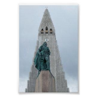 Leif Erikson Statue, Iceland Photo Print