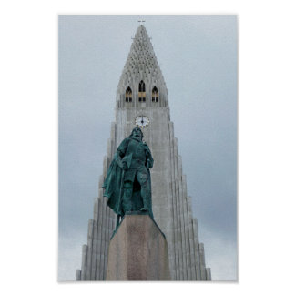 Leif Erikson Statue, Iceland Poster
