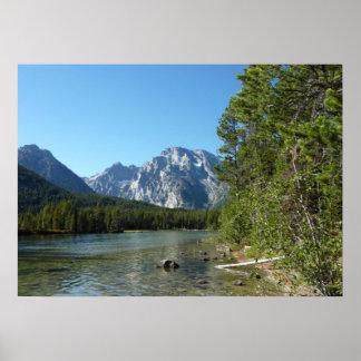 Leigh Lake at Grand Teton National Park Poster