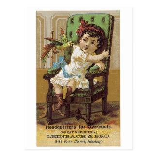 Leinbach and Bros Overcoats Postcard
