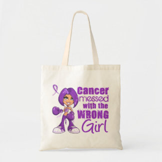 Leiomyosarcoma Messed With Wrong Girl png Canvas Bags