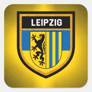 Leipzig Flag Square Sticker
