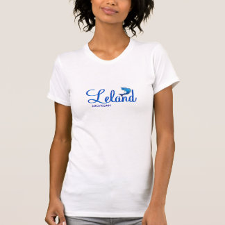 Leland, Michigan - Ladies Twofer Sheer (Fitted) T-shirts