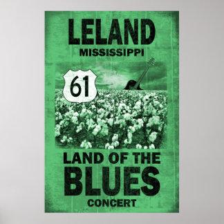 Leland Mississippi Blues Poster