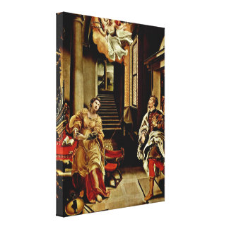 Lelio Orsi - The St Cecilia and St Valerian Gallery Wrapped Canvas