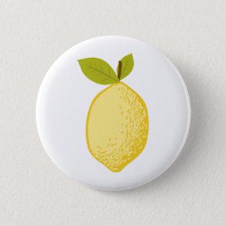 Lemon 6 Cm Round Badge