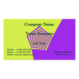 Lemon and Lilac Spiral  Classic Business Card