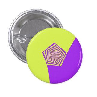 Lemon and Lilac Spiral Pinback Button