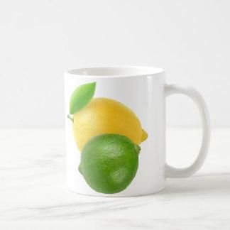 Lemon and lime basic white mug