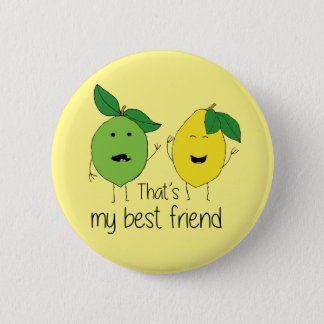 Lemon and Lime Best Friends 6 Cm Round Badge