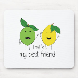 Lemon and Lime Best Friends Mouse Pad