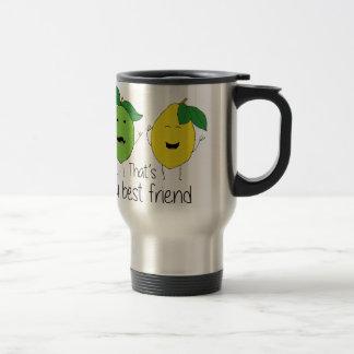 Lemon and Lime Best Friends Travel Mug