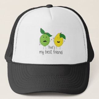 Lemon and Lime Best Friends Trucker Hat