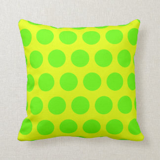 Lemon and Lime Green Polka Dots Cushion