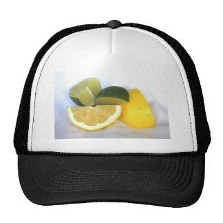 Lemon and Lime Mesh Hats