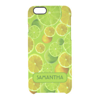 LEMON AND LIME PERSONALIZE CLEAR iPhone 6/6S CASE