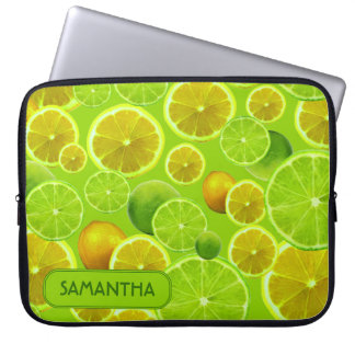 LEMON AND LIME PERSONALIZE ... LAPTOP SLEEVE