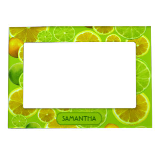 LEMON AND LIME PERSONALIZE ... MAGNETIC PICTURE FRAME