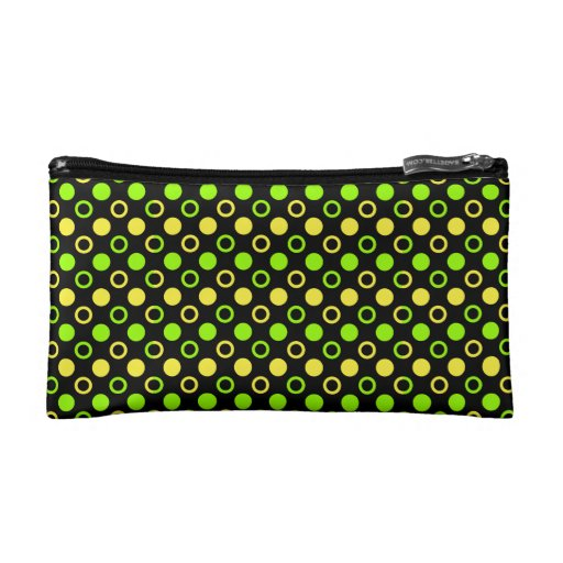 Lemon And Lime Rings And Polka Dots Cosmetics Bags