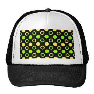 Lemon And Lime Rings And Polka Dots Cap