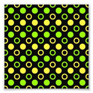 Lemon And Lime Rings And Polka Dots Photo Print