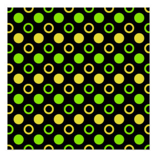 Lemon And Lime Rings And Polka Dots Poster