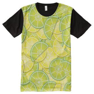Lemon and Lime Slices All-Over Print T-Shirt