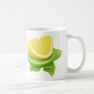 Lemon and lime slices basic white mug