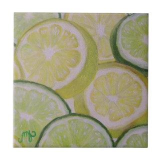 Lemon and Lime Slices - Tile