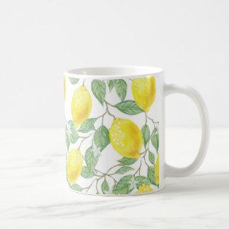 Lemon and Sage Green Vines Coffee Cup