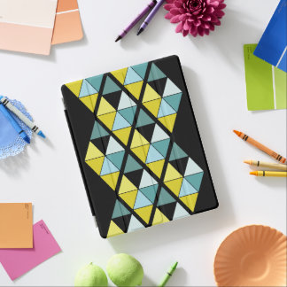 Lemon and Teal Triangle iPad Cover