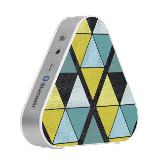 Lemon and Teal Triangle Speaker