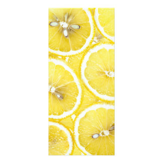Lemon background rack card