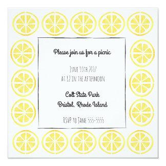 Lemon border invitation