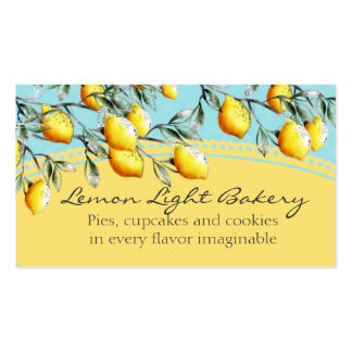 lemon branch bakery baking cooking chef catering pack of standard business cards