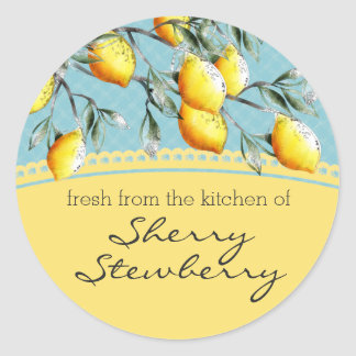 Lemon branch baking cooking food gift sticker