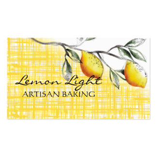 lemon branch cooking baking catering business c... pack of standard business cards