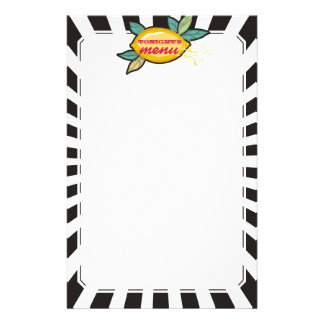 Lemon branch groovy rays chef catering bakery stationery